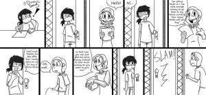 Why I hate answering the door by LittleFrost