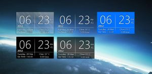 Aero Digital Clock with skins by Del-Korey
