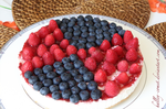 Raspberries and Blueberries Cheesecake by Halley-Comet