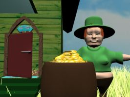 Leprechause_with his gold by camimo