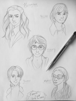 Harry Potter Sketches by XKillerJoy