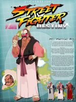 STREET FIGHTER DESTINY: Mr. Martial Arts by theCHAMBA