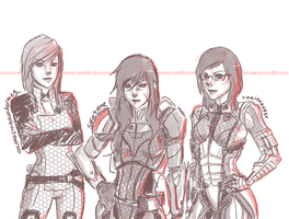 Mass Effect - OT3 by soratane