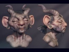 Satyr in the Sun by polyphobia3d