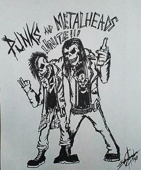 punks and metalheads unite by GraveLord138
