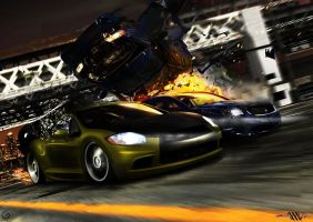 Mitsubishi Eclipse vs Galant by SaMuVT
