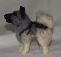 Needle Felted Elkhound I by The-GoblinQueen
