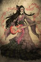Han Chinese costume and electric guitar by AlphaSong