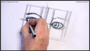 Learn how to draw two eyes 013 by drawingcourse