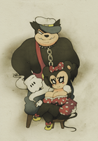 ~ Minnie and Pete ~ by SCIFIJACKRABBIT