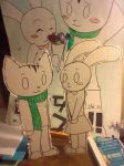 Doki and Nabi Cardboard Cut outs by Freeze-pop88