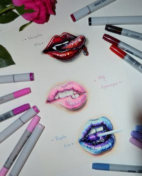 Lip Practice by Lighane
