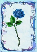 Enchanted rose - blue by markostop
