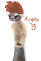 Acorn as a human by Moracalle