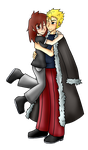 .:Full Body Commission:. Mya and Laxus by DarkBox-V2K