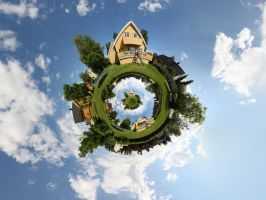 Little Planet Garden Droste by DrySin