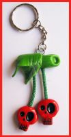 Skull Cherry Keychain by cherryboop