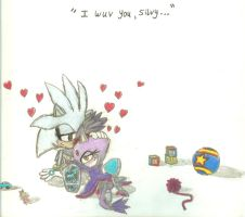 Kiddie Silver and Blaze, 'I wuv you Silvy' by Aros2