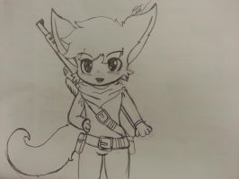 - Sketch chibi - armed cuteness by Tukari-G3