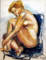 Figure Study with Pastels by KateStehr