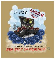 I'm Not Angry T-Shirt by LimoMeow