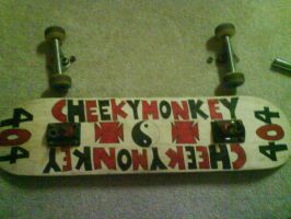 my custom skateboard by CheekyMonkey404