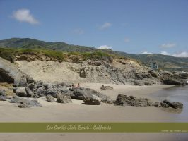 Leo Carillo Beach + mountains by djsteen