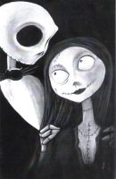 Nightmare Before Christmas  Charcoal Art by johnstewartart