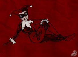 Harley Quinn Sketch by SnowFright