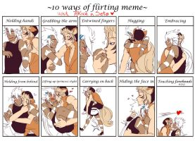 10 Ways Of Flirting Meme AkiSeto version by redoluna