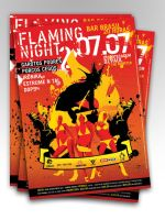 Flaming Night II A3 by absintho