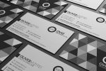 Abstract Black And White Business Card by MarvelMedia
