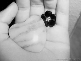 Stone Heart 'n Flower by TheFlyingHeart