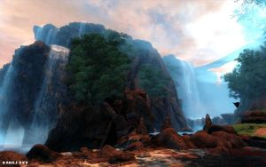 Auriel's Waterfalls by Jenova87