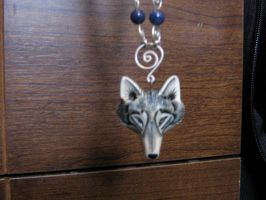 Wolf Fur Necklace pendant. by Skunk-Mantra