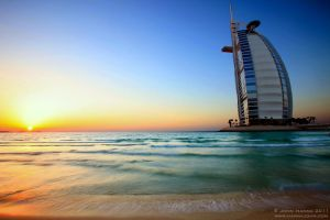 Burj Al Arab Sunset by hannajohn