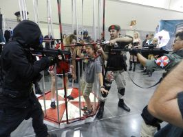 Phoenix Comicon 2014 Zombie cage (5) by Demon-Lord-Cosplay