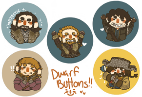 Dwarf Buttons by jamknight