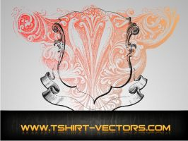 Crest with Etching vector AI by Enigma-Design