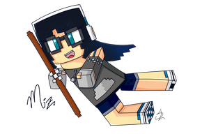 Minecraft Drawing + Updates info in description by Spork-a-licious