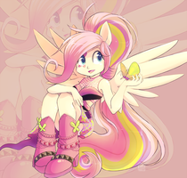 Rainbow Rocks - Fluttershy by ChocoChaoFun
