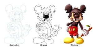 Bad Mickey-Lineart and Sketch by MarcSantana