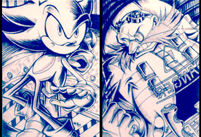 Sonic Sketchcards by Khaliqa