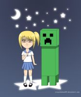 AT: Minecraft Creeper by crazy4anime09