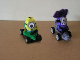 Minions are about to race by fuzzyfigureguy