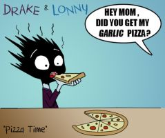 Drake tries Pizza by shubcthulhu