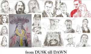 from DUSK till DAWN rodriguez / tarantino drawing by SBdrawings