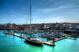 Cowes harbour by Tangent101