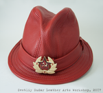 Red Alert Fedora Leather Hat by Svetliy-Sudar