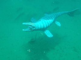 Mosasaurus in the deep by Krulos